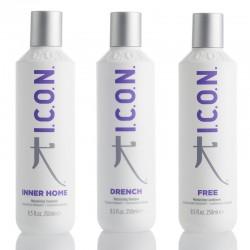 Rinkinys ICON drėkinanti linija Šampūnas, kaukė, kondicionierius