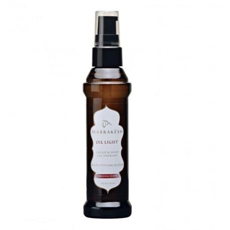 Lengvos konsistensijos aliejus plaukams MARRAKESH Oil Argan & Hemp Oil Therapy Hair Styling Elixir LIGHT 60ml