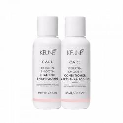 Kelioninis rinkinys KEUNE KERATIN SMOOTH Travel Set (šampūnas 80ml + kondicionierius 80ml)