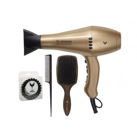 Išskirtinio dizaino riboto leidimo plaukų formavimo rinkinys HH Simonsen Gold