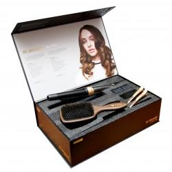 Išskirtinio dizaino riboto leidimo plaukų garbanojimo rinkinys HH Simonsen gold
