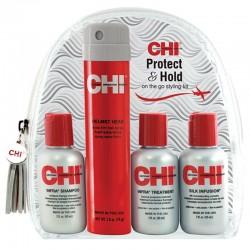 Kelioninis rinkinys dažytiems plaukams CHI Protect and Hold