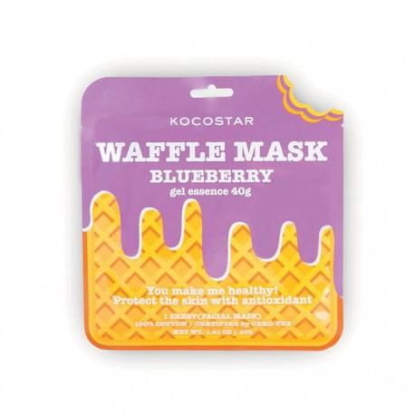 Jauninanti veido kaukė Kocostar Waffle mask Blueberry 1vnt.