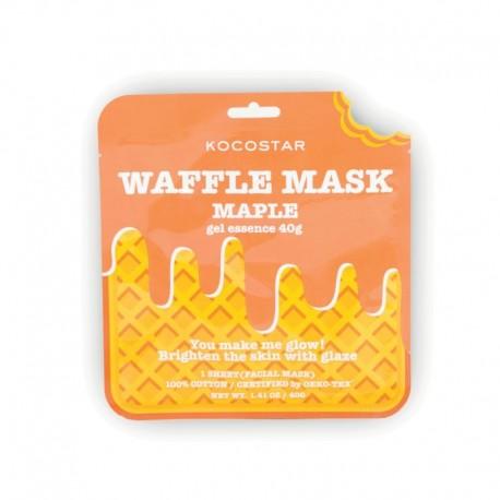 Skaistinanti ir jauninanti veido kaukė Kocostar Waffle mask Maple 1vnt.