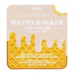 Veido kaukė jautriai odai Kocostar Waffle mask Icecream 1vnt.