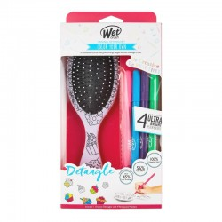 Ovalus šepetys su flomasteriais Wet Brush Color Your Own Cupcake