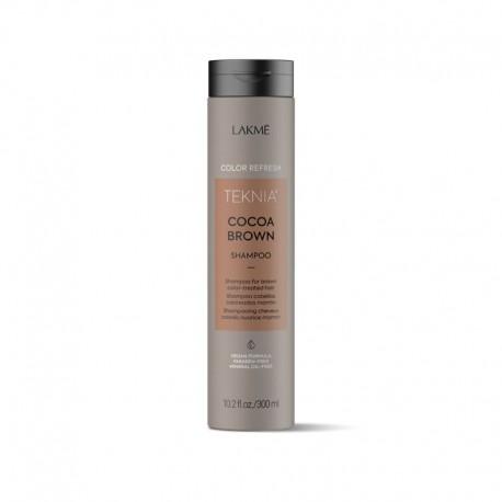 Rudą spalvą paryškinantis šampūnas Lakme Teknia Cocoa Brown Shampoo