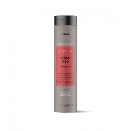Raudoną spalvą paryškinantis šampūnas Lakme Teknia Coral Red Shampoo 300ml