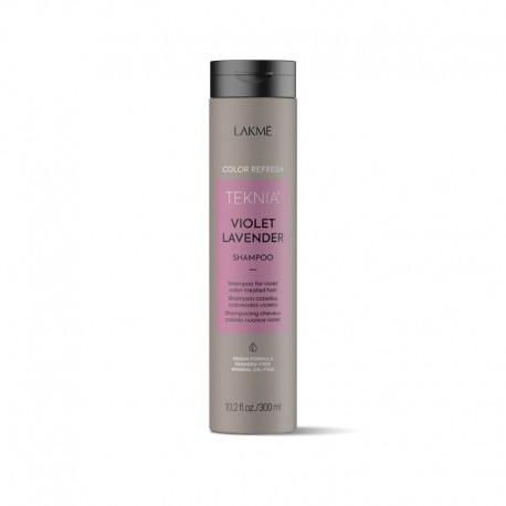 Violetinę spalvą ryškinantis šampūnas Lakme Teknia Violet Levander 300ml