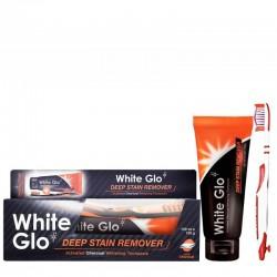 Balinamoji dantų pasta su aktyvuota anglimi WHITE GLO Deep Stain Remove 150g