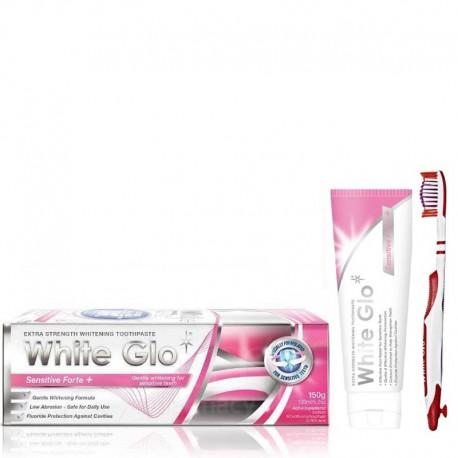 Balinamoji dantų pasta jautriems dantims WHITE GLO Sensitive Forte+ 150g