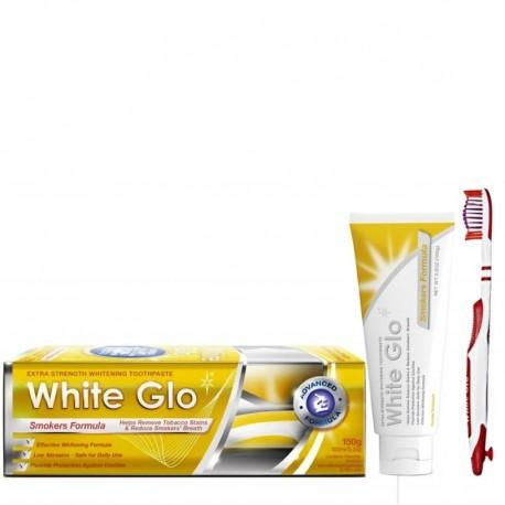 Balinamoji dantų pasta rūkantiesiems WHITE GLO Smokers Formula 150g