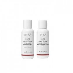Kelioninis rinkinys KEUNE TINTA COLOR (šampūnas 80ml + kondicionierius 80ml)