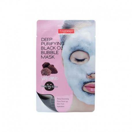 Giliai valanti veido kaukė Purederm Black O2 Bubble Mask Volcanic 20g