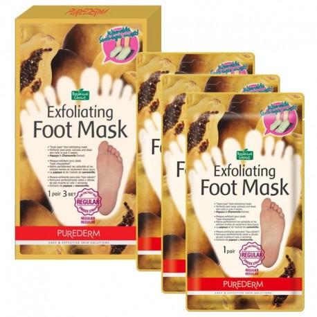 Šveičiamojo pėdų kaukė - kojinės vidutinio dydžio Purederm Exfoliating Regular 1 pora