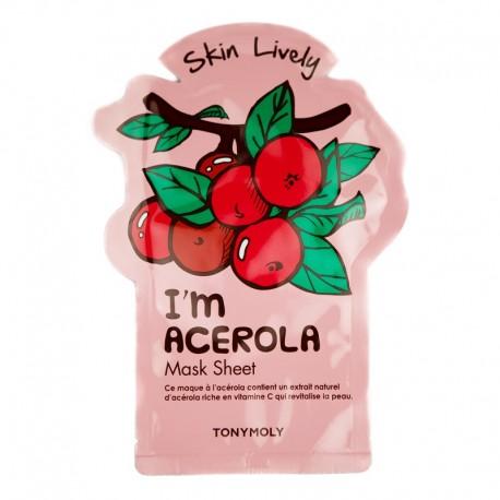 Skaistinanti lakštinė veido kaukė su vitaminu C Tonymoly I Am Acerola Mask Sheet 1vnt