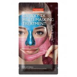 "Kombinuota veido kaukė Purederm Galaxy 2X Multi-Masking ""Pink&Blue"" 6g+6g"