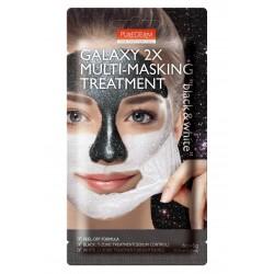 Nulupama veido kaukė Purederm Galaxy 2X Multi-Masking Black&White 6g+6g