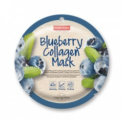 Veido kaukė su su mėlynių ekstraktu Purederm Blueberry Collagen Mask 18g