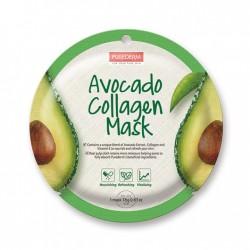 Veido kaukė su kolagenu ir avokado ekstraktu Purederm Avocado Collagen Mask 18g