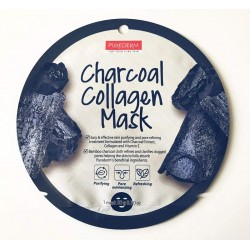 Kologeninė veido kaukė su anglimi Purederm Charcoal Collagen Mask 18g