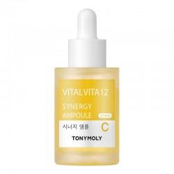 Skaistinamasis koncentratas veido odai Tonymoly Vital Vita 12 Synergy Ampoule 30ml