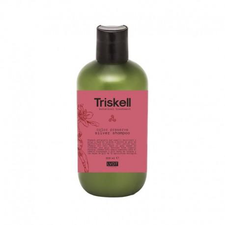 Šampūnas blonduotiems, žiliems plaukams Triskell Preserve Silver Shampoo 300ml