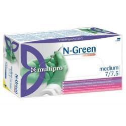 Žalios spalvos vienkartinės nitrilinės pirštinės be pudros  M dydžio 100vnt