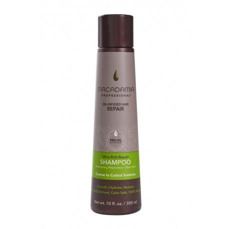 Ypač drėkinantis šampūnas sausiems, pažeistiems plaukams Macadamia