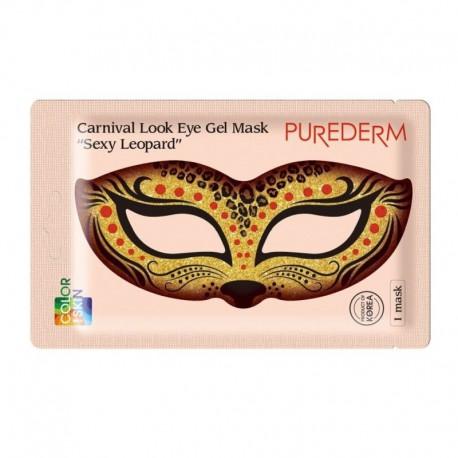 Gelinė paakių kaukė Purederm Carnival Look Eye Gel Mask SEXY LEOPARD 1vnt