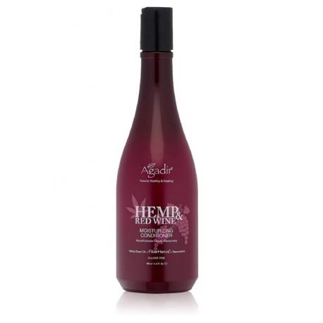 Drėkinantis plaukų kondicionierius su kanapėmis ir yra raudonojo vyno ekstraktu Agadir Hemp And Wine Moisturizing  430ml