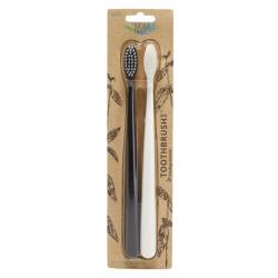 Dantų šepetėlių rinkinys The Natural Family Co Biodegradable Toothbrush 2vnt
