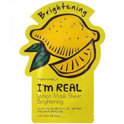 Šviesinanti lakštinė veido kaukė TONYMOLY I'm Real Lemon Mask Sheet 21g.