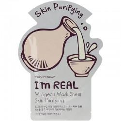 Maitinanti ir valanti veido kaukė su su ryžių vynu TONYMOLY I'm Real Makgeolli Mask Sheet 21g