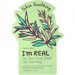 Drėkinanti veido kaukė su arbatmeždiu Tonymoly I'm Real Tea Tree Mask Sheet 21g