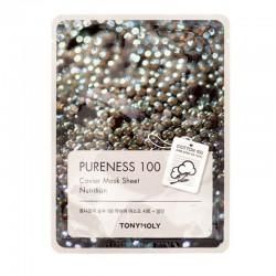 Lakštinė veido kaukė su ikrais TONYMOLY Pureness 100 Caviar Mask Sheet 21g.