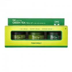Žalios arbatos veido kremų rinkinys TONYMOLY The Chok Chok Green Tea Cream Trial Kit 30ml x 3