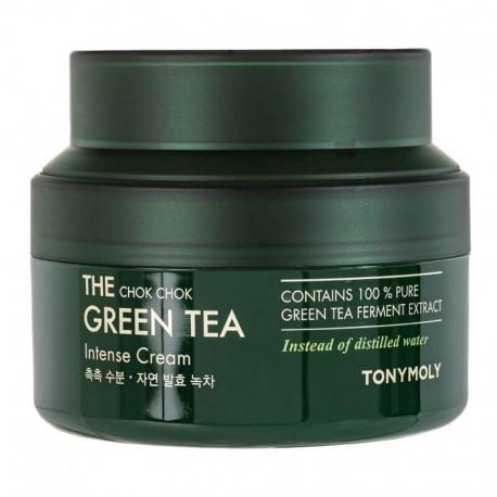 Veido kremas su žaliąja arbata TONYMOLY The Chok Chok Green Tea Intense Cream 60ml