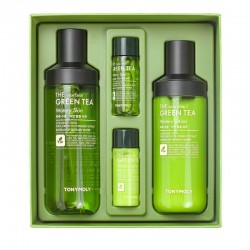 Losjonas ir Tonikas su žaliąja arbata TONYMOLY The Chok Chok Green Tea Watery Skin Care set 380ml
