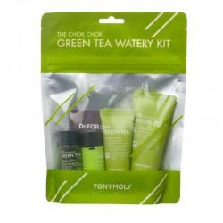 Kelioninis rinkinys su žaliąja arbata TONYMOLY The Chok Chok Green Tea Watery kit 95ml