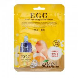Lakštinė veido kaukė su kiaušinio tryniu  Ekel Ultra Hydrating Essence Mask EGG  25 g.