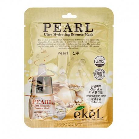 Lakštinė veido kaukė su perlų ekstraktu Ekel Ultra Hydrating Essence Mask Pearl 25g