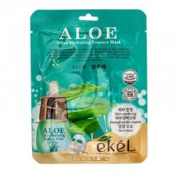 Lakštinė veido kaukė su alijošiumi Ekel Ultra Hydrating Essence Mask Aloe 25g