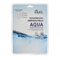 Lakštinė veido kaukė su hidrolizuotu kolagenu Ekel Super Natural Ampoule Mask Aqua  25g