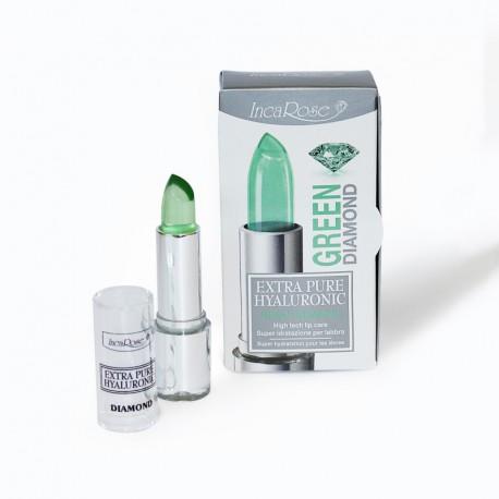 Permatomi lūpų dažai-blizgesys ypatingam drėkinimui INCAROSE GREEN DIAMOND 4 ml