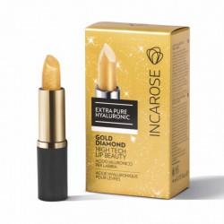 Permatomi lūpų dažai-blizgesys ypatingam drėkinimui INCAROSE GOLD DIAMOND 4 ml