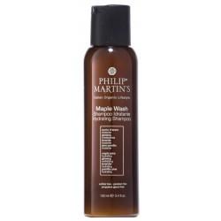 Drėkinamasis plaukų šampūnas sausiems ir chemiškai pažeistiems plaukams Philip Martin's Maple Wash