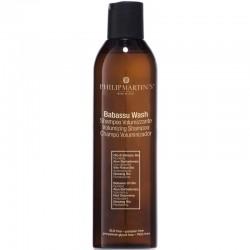 Plaukų apimtį didinantis šampūnas ploniems plaukams Philip Martin's Babassu Wash 250ml