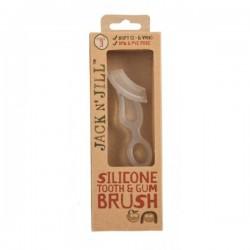 Silikoninis dantų šepetėlis JACK N' JILL Silicone toothbrush 2-5m.