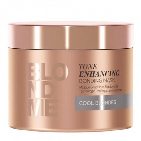 Šaltą atspalvį paryškinanti šviesių plaukų kaukė Schwarzkopf Professional Blond Me Cool 200ml